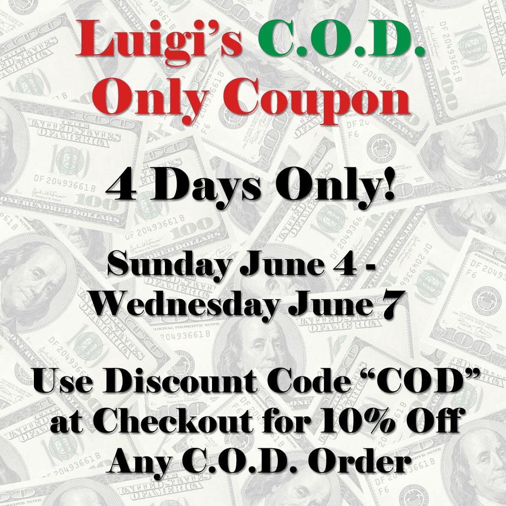 Luigi's pizza coupons discounts