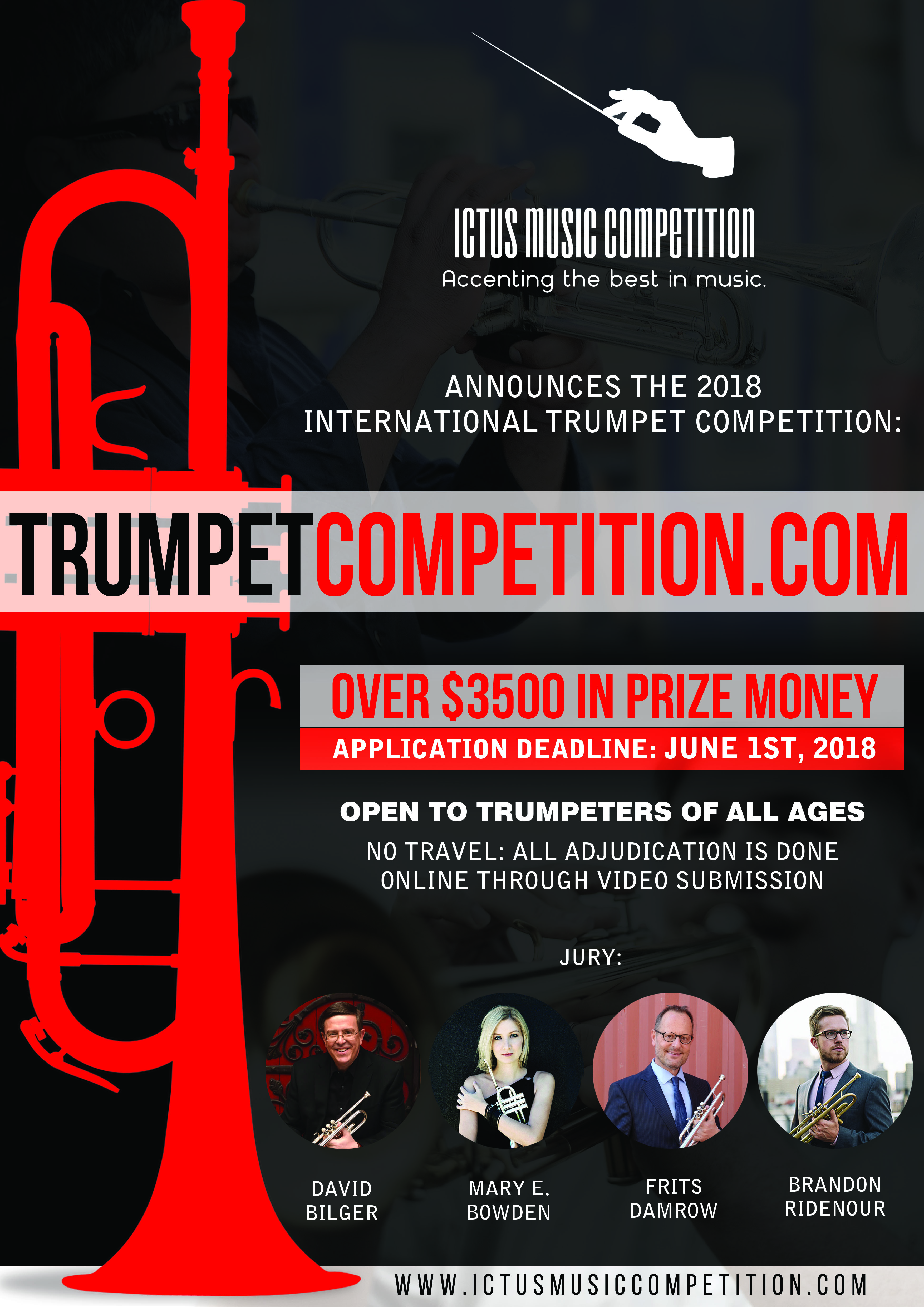 Ictus International Music Competition Announces Its First Online Trumpet Competition