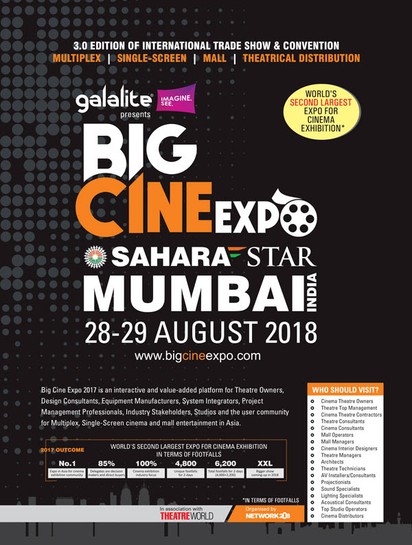 Galalite Screens - Title Sponsor for Big Cine Expo 2018