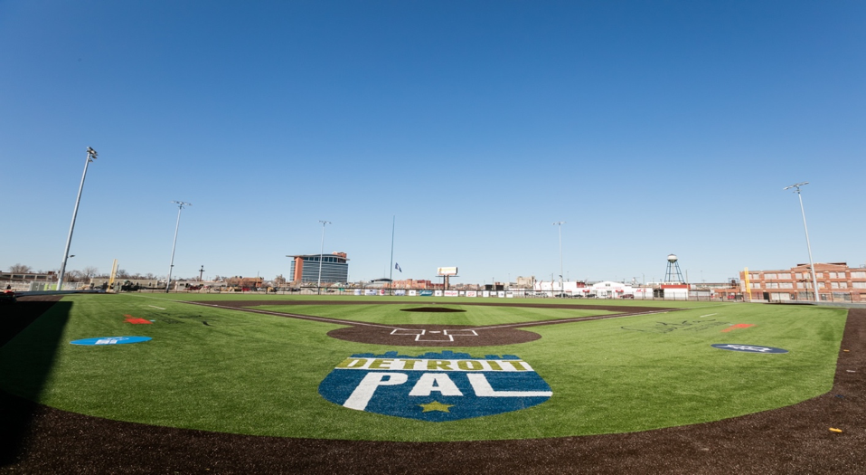SYMMETRY TURF INSTALLS SYNTHETIC SURFACE AT FORMER DETROIT TIGERS STADIUM