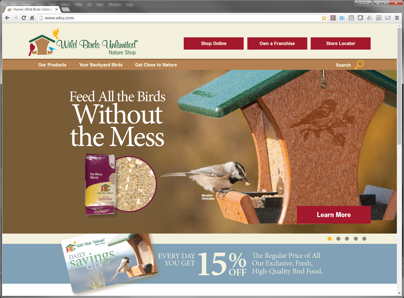 Redesigned Website Invites Everyone to Attract Wild Birds to Their Backyard