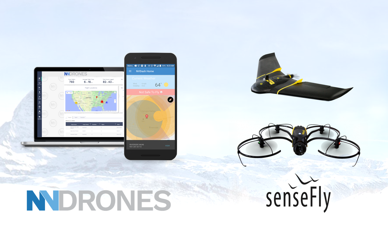 NVdrones Announces senseFly Compatibility and Product Pricing Plans