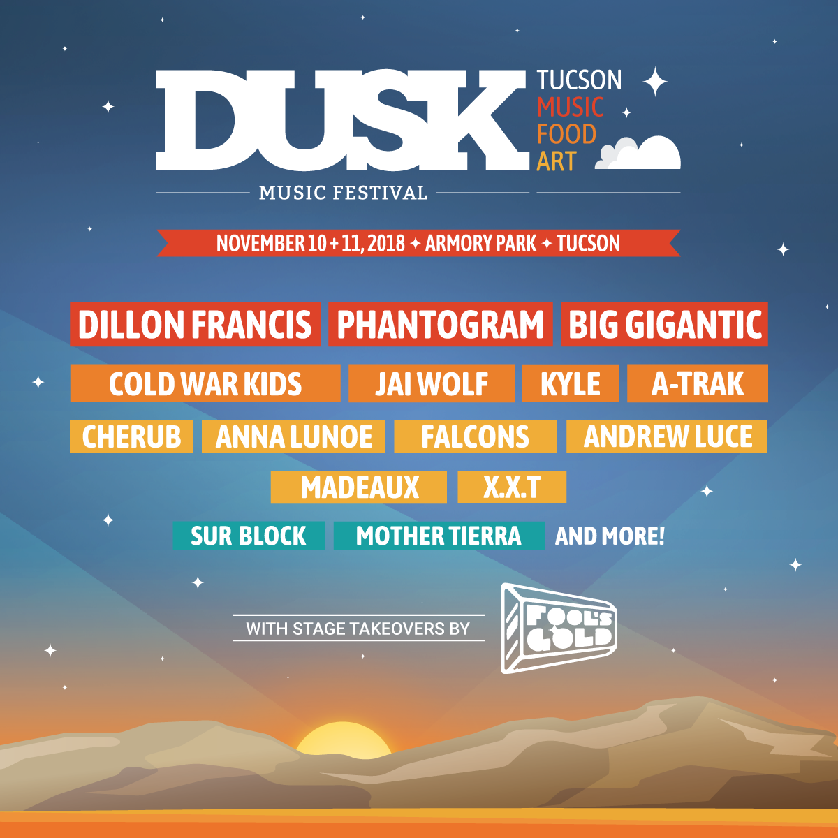 DUSK Music Festival Announces 2018 Lineup Featuring Dillon Francis, Phantogram, Big Gigantic and Cold War Kids