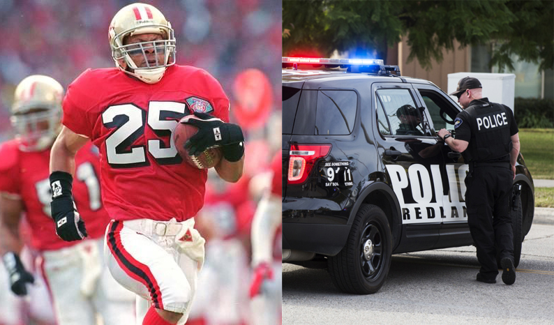 "Redlands Police Department First To Add ""PEACE OFFICER"" To Entire Fleet, Joined by NFL Great Eric Davis On 12/14/17"