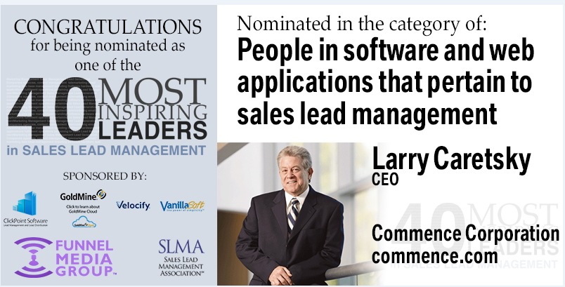 Commence Corporation CEO Nominated as Inspiring Leader