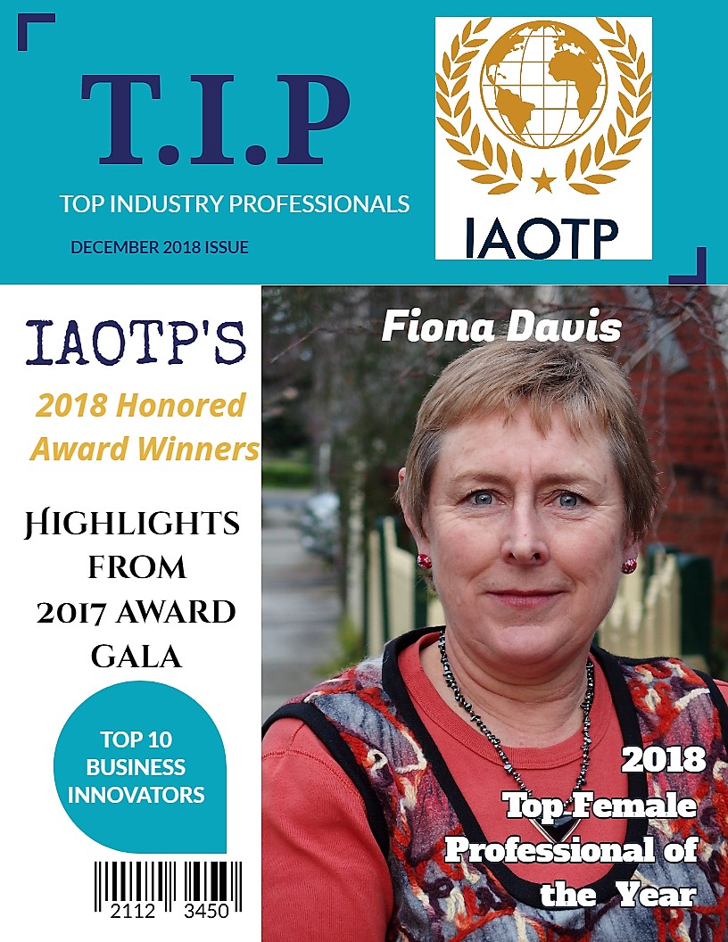 Fiona Davis selected for Humanitarian Award by the International Association of Top Professionals (IAOTP).