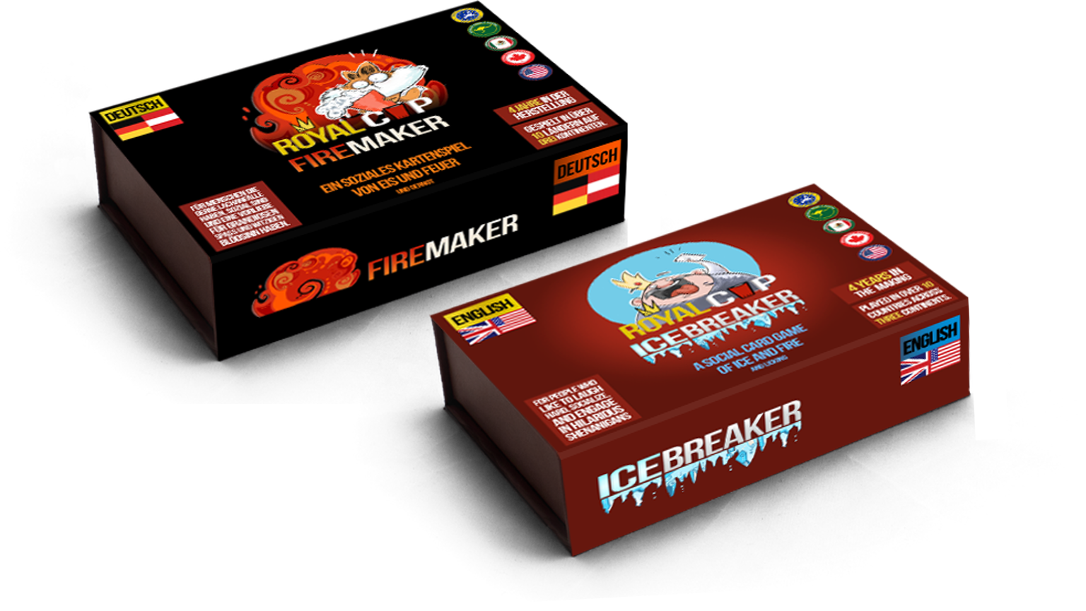 Royal Cup Releases Icebreaker and Firemaker: The Social Card Games for Wallflowers