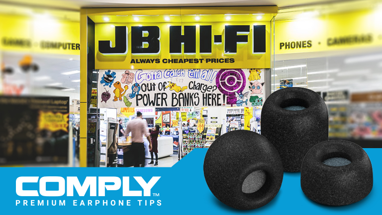 Hearing Components Partners with JB Hi-Fi, Bringing Comply™ to Australia & New Zealand