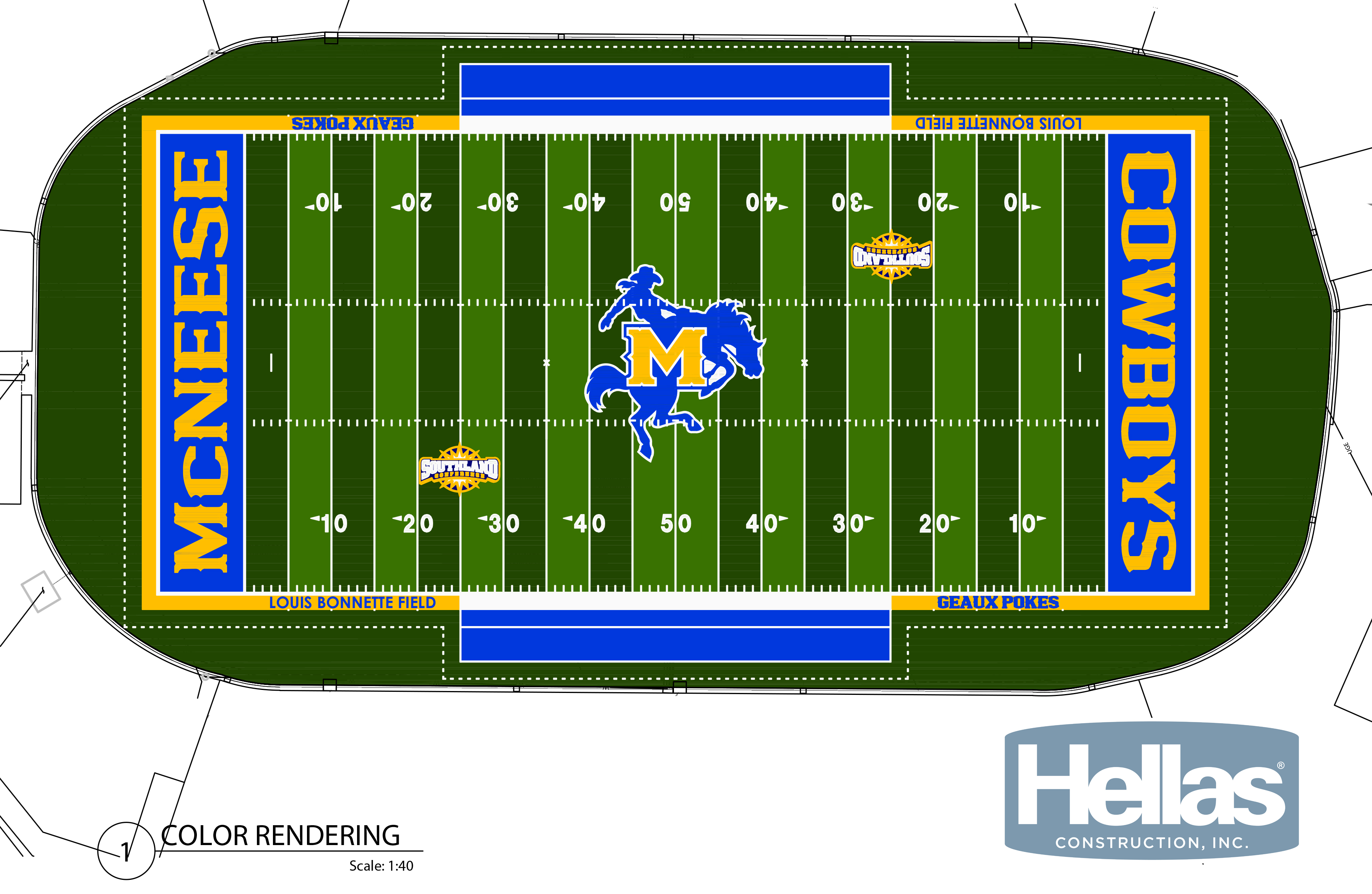 MCNEESE SELECTS HELLAS MATRIX TURF WITH HELIX FOR COWBOY STADIUM