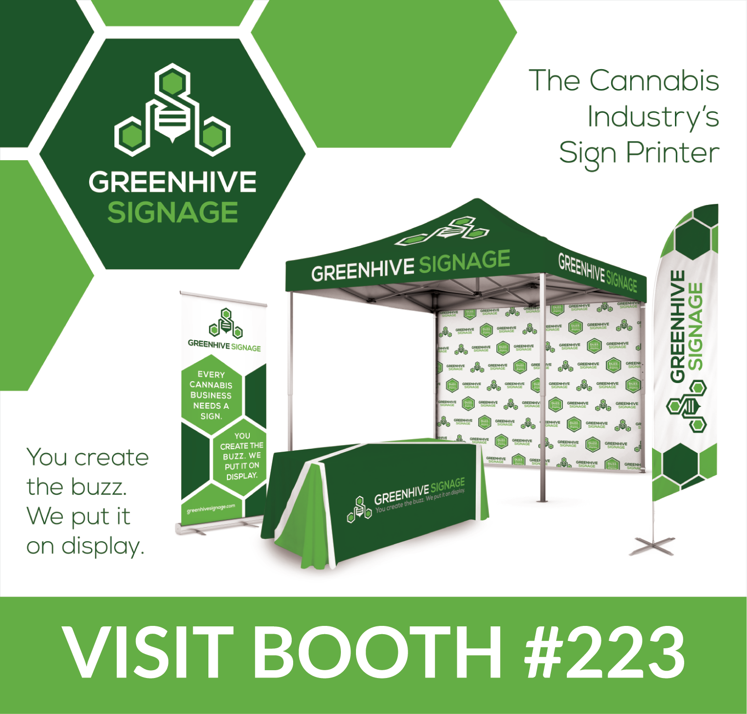 Greenhive Signage Inc. is set to put the cannabis industry on display at the Marijuana Business Conference and Expo in Las Vegas, NV.