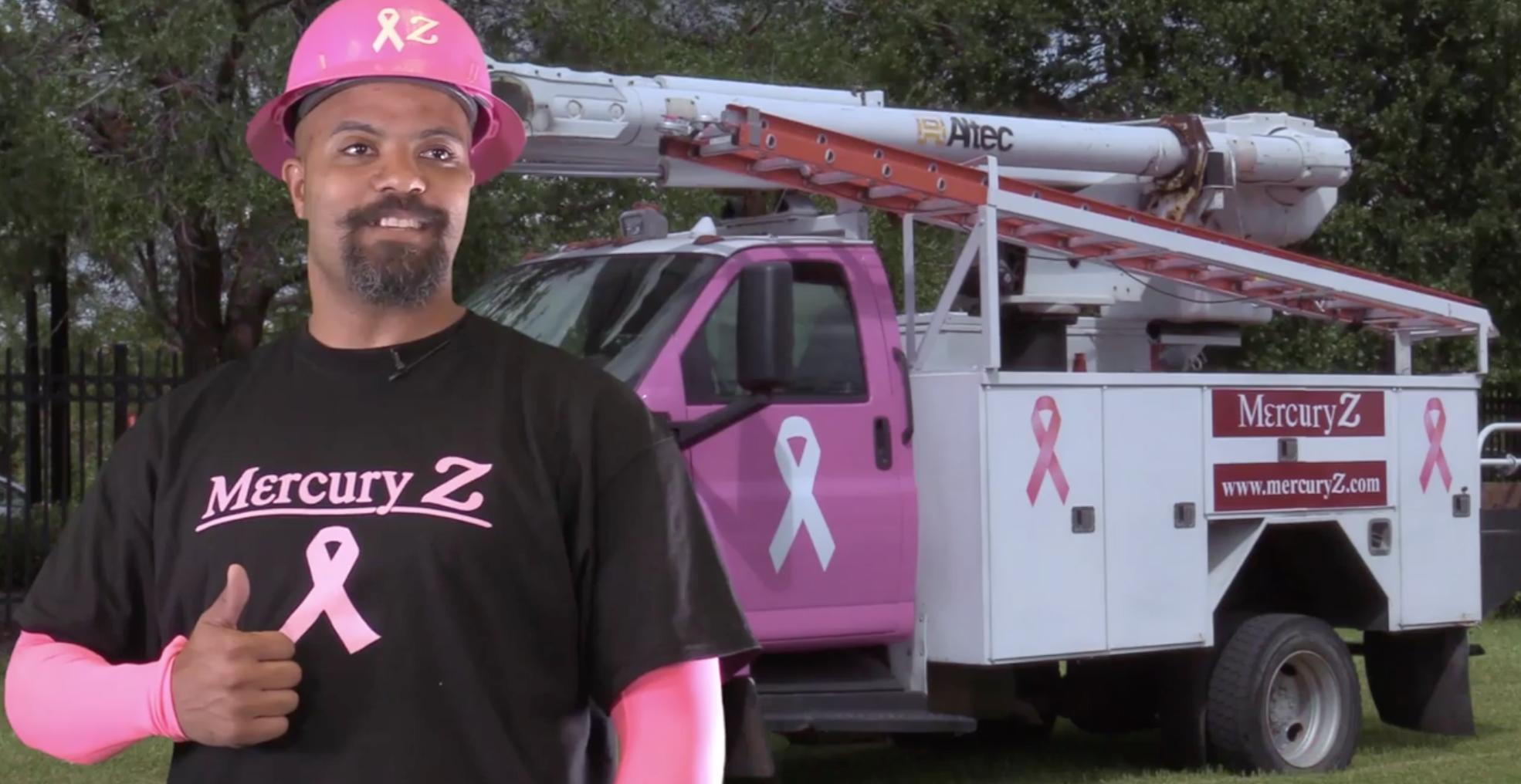 Telco Techs and Truck Go Pink for Breast Cancer Awareness