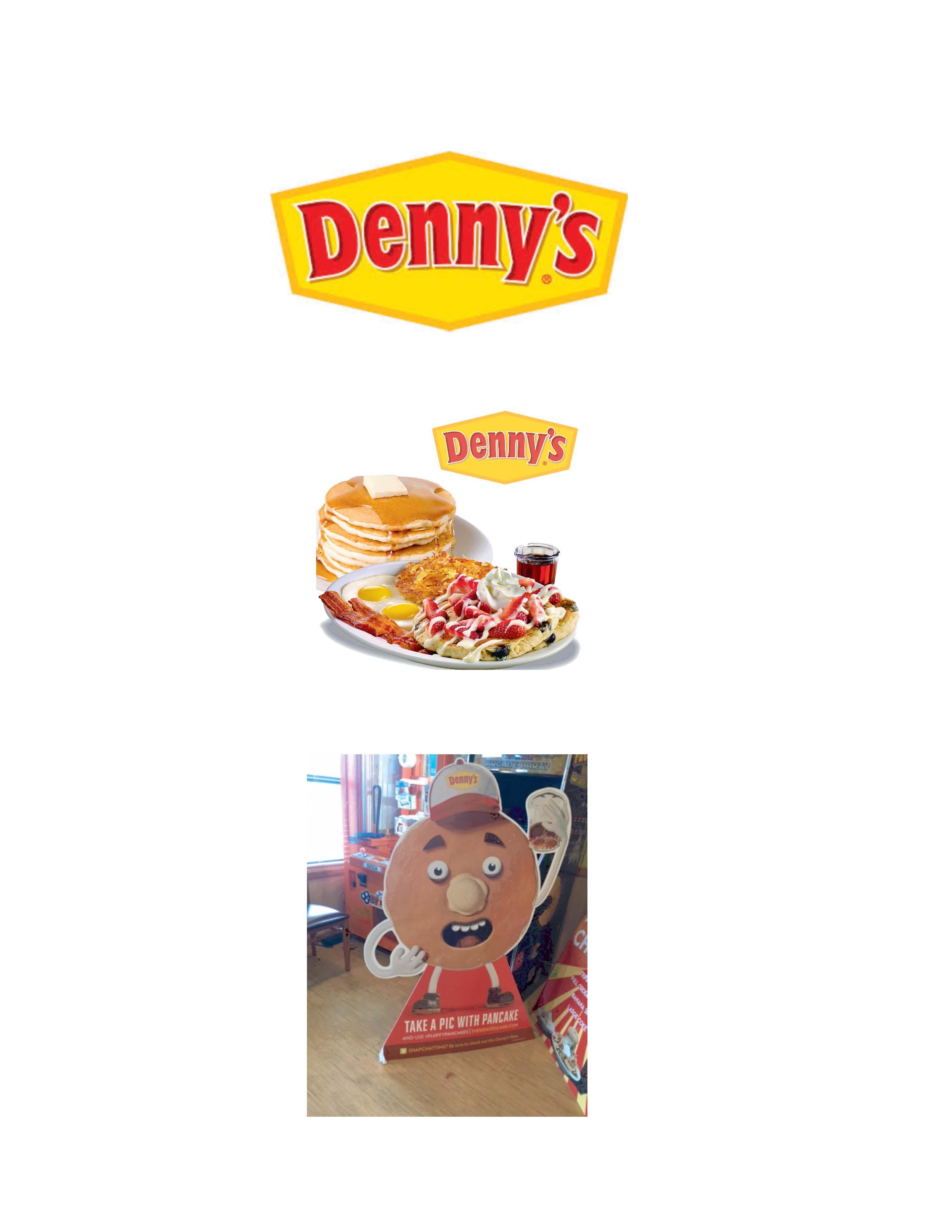 """DENNY'S OFFICIAL PANCAKE """"GRAND SLAM"""" MASCOT MISSING"""