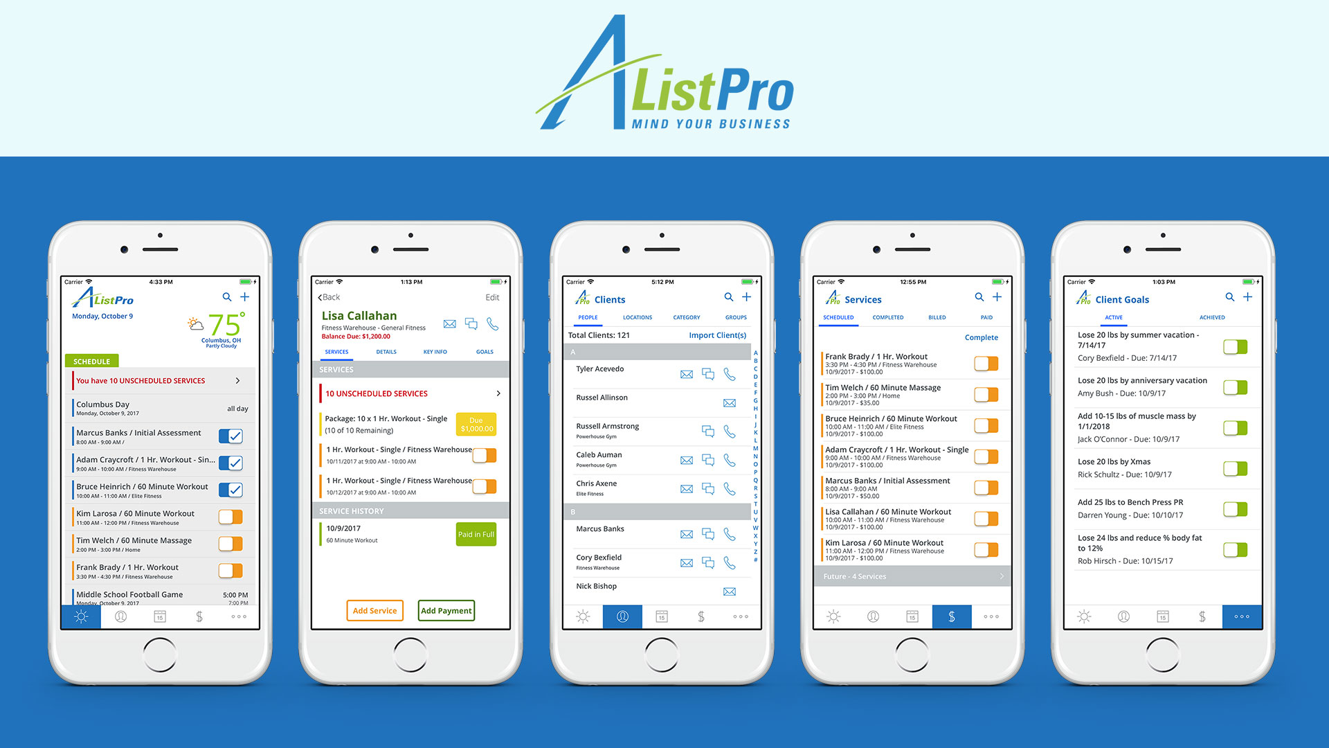 A-ListPro is a New iOS App designed exclusively for Appointment-based Service Businesses