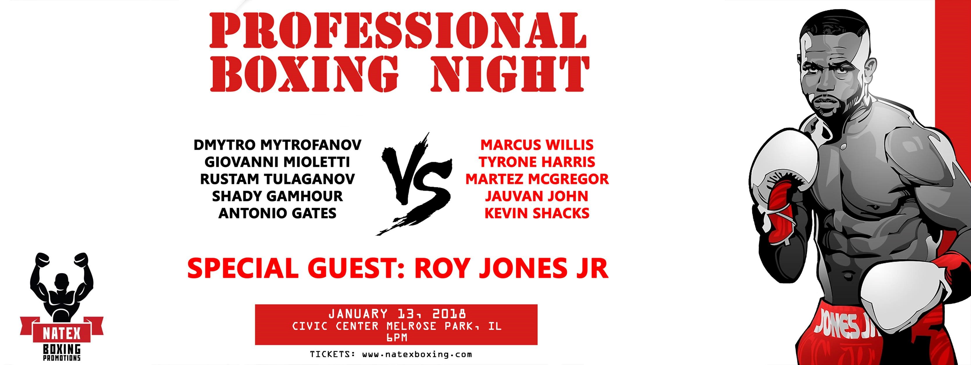 Re: Boxing Night changed to larger venue for professional bouts Jan. 13: Midwest Conference Center Northlake
