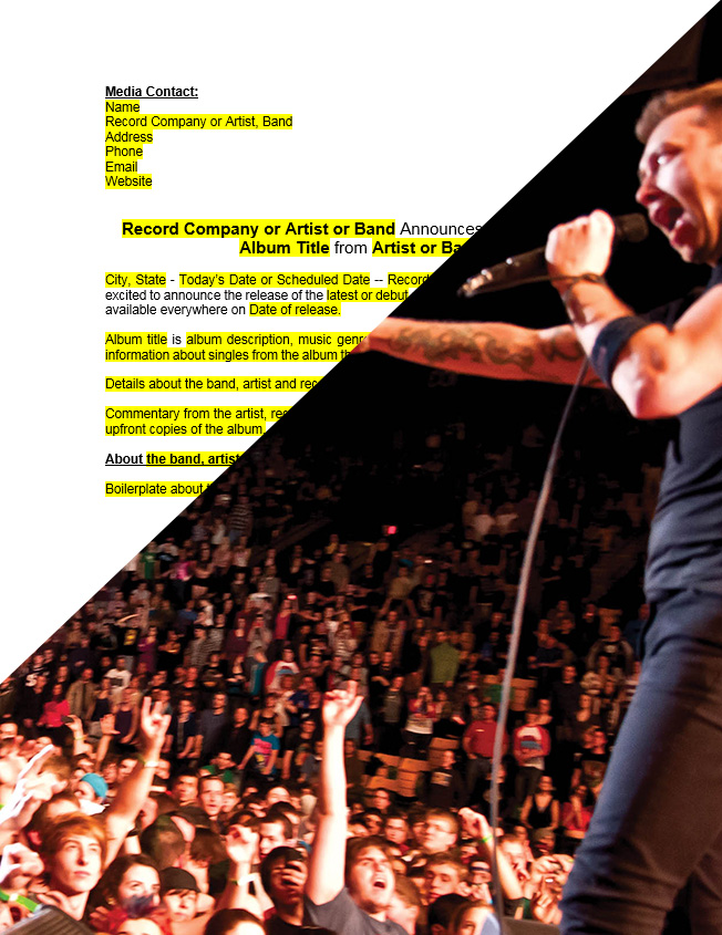 band press release template - press release templates press release jet