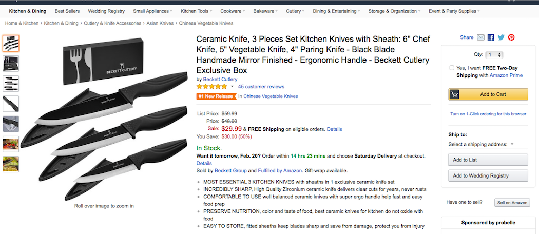 #1 New Release Premium Ceramic Knife set comes from BECKETT CUTLERY