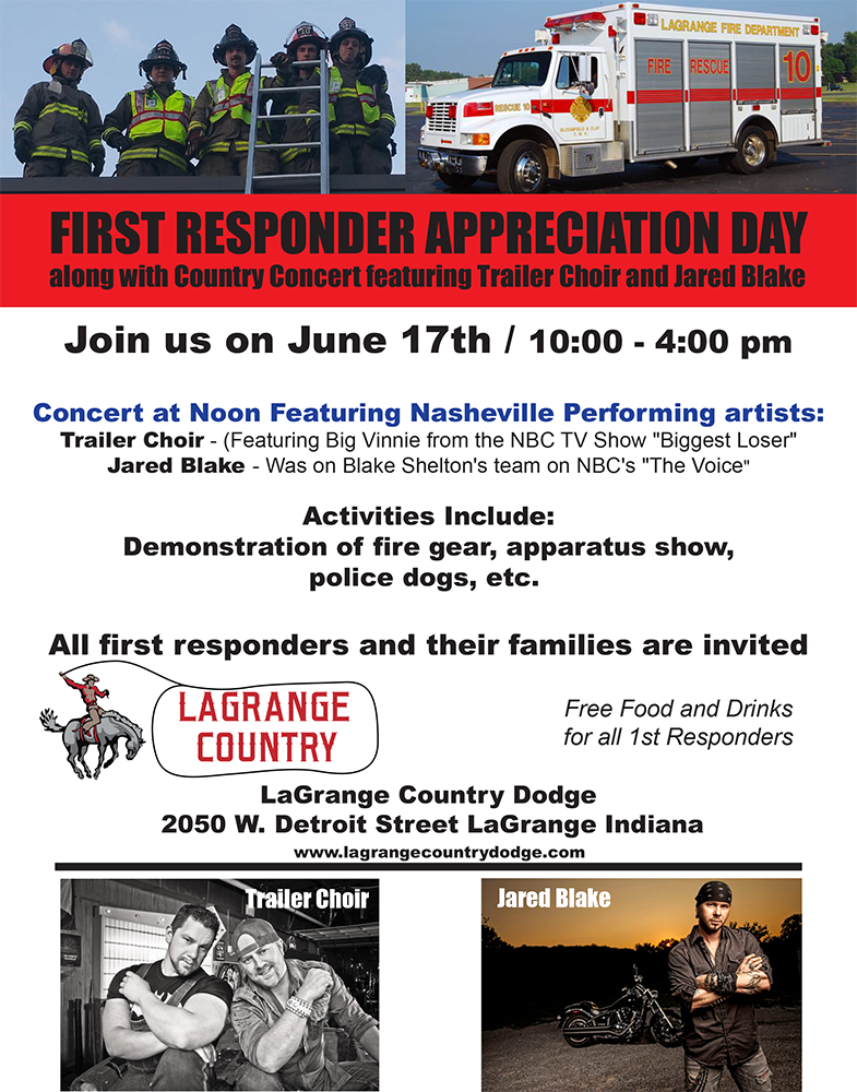 First Responders Appreciation Day by LaGrange Country Dodge
