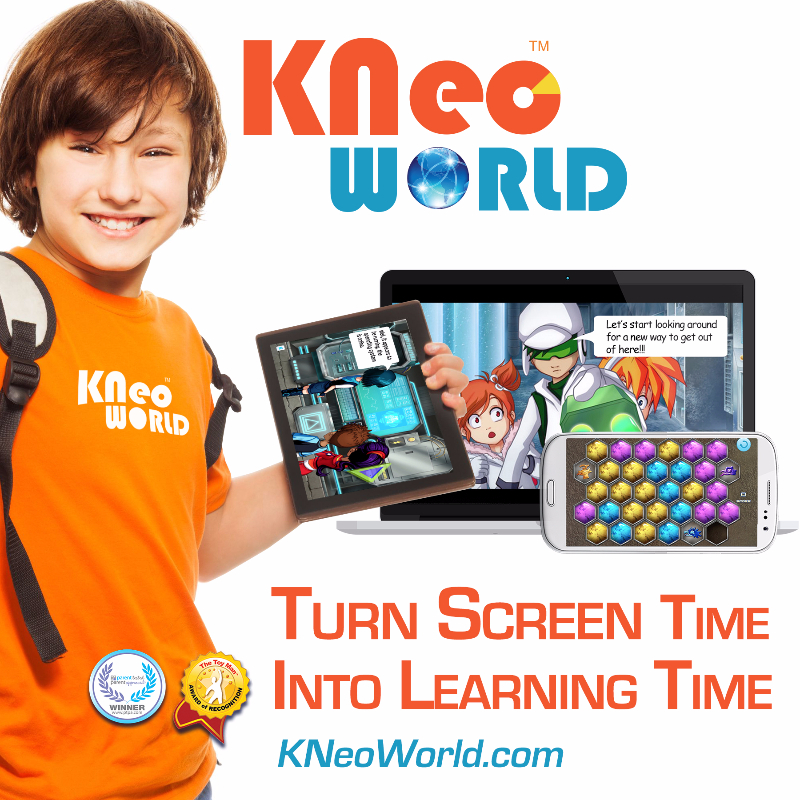 KNeoWorld Makes Screen Time That's Actually Good for Kids, Just as American Academy of Pediatrics Updates Tech Guidelines for Families.