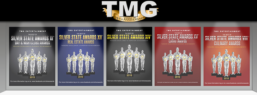 TMG ENTERTAINMENT -SILVER STATE AWARDS ANNOUNCE THE TWOOF NINE UPCOMING AWARDS IN LAS VEGAS